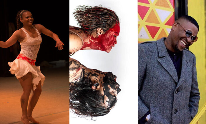 Three artists performing at the Immigrant Artistry evenet