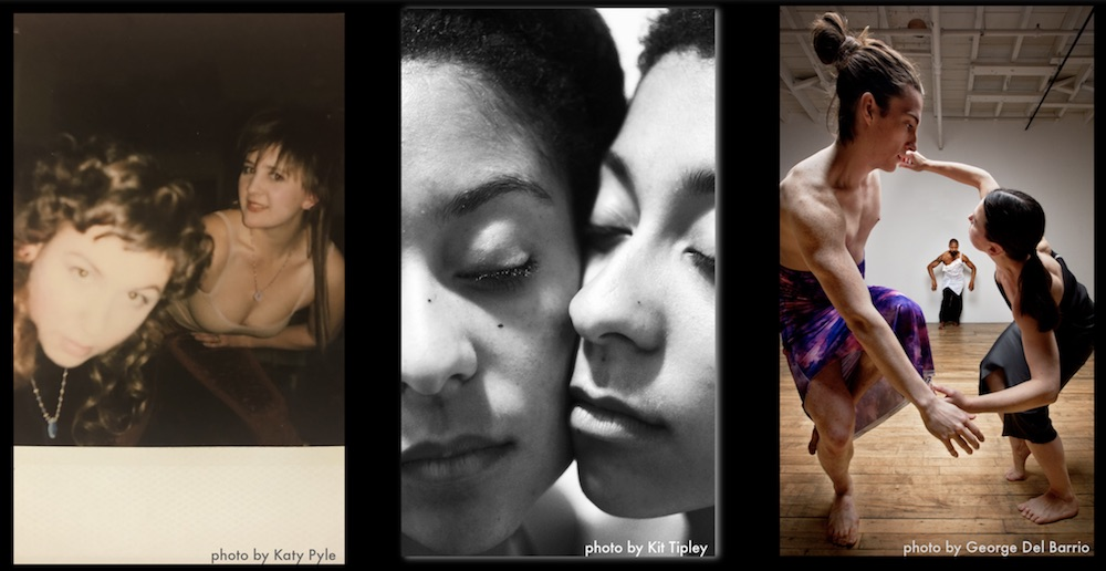 Three photos side by side to each other of women.